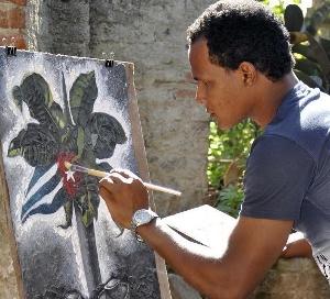 El artista Iván Carbonell Guerra (Machuty)