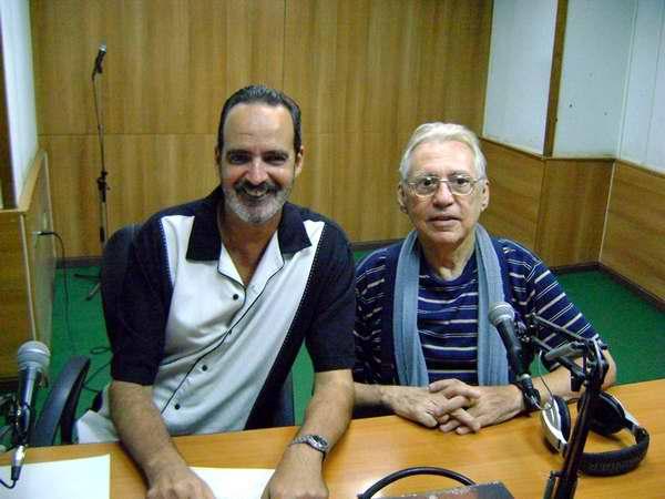 Franco con Guillermo Piñeyro