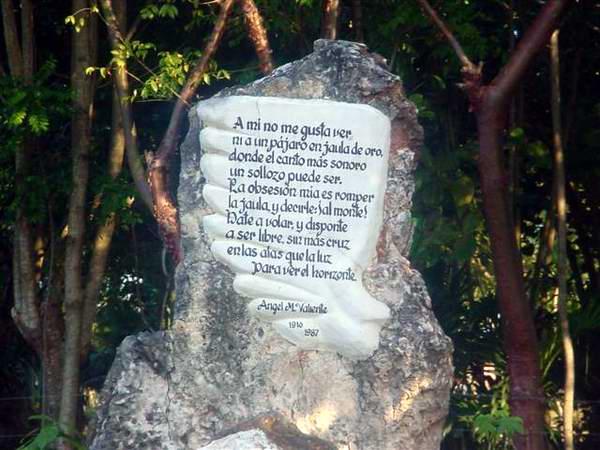En el Bosque Martiano de Ariguanabo, en la occidental provincia de Artemisa, exista una zona o área dedicada a los poetas