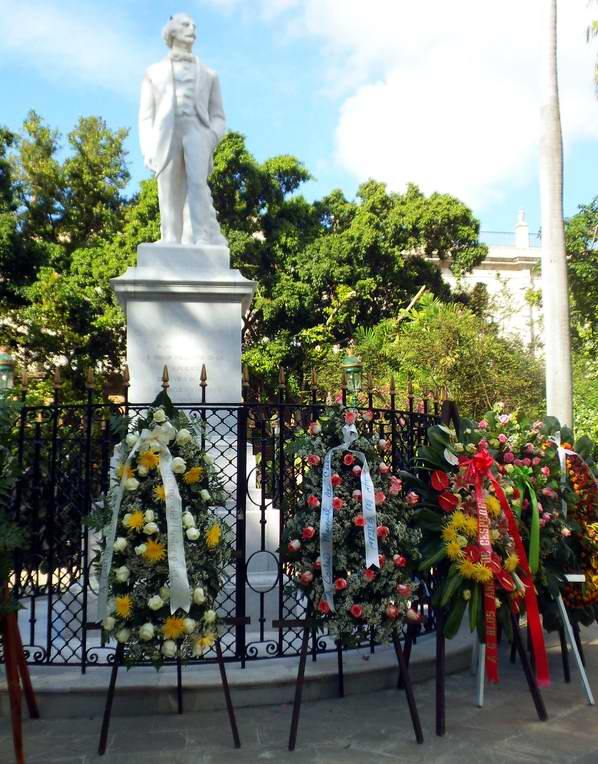 Cuba rinde tributo al Padre de la Patria, Carlos Manuel de Céspedes. Foto Ruth Soto