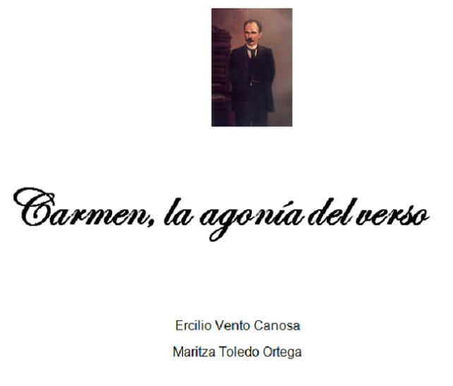 Carmen, la agonía del verso