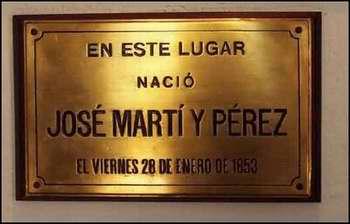 Casa Natal de Martí ubicada en la  calle Leonor Pérez número 314, en La Habana Vieja