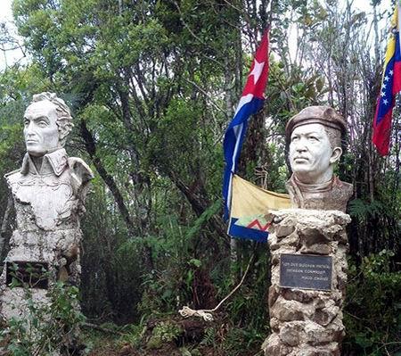 Busto de Chávez se levanta en la Sierra Maestra