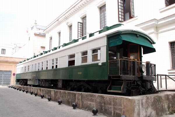Coche mambí de ferrocarril en Cuba