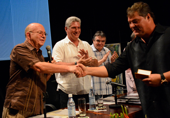The Cuban Five: Honorary Members of UNEAC. Photo by Yailin Ortega