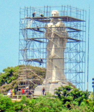 The Jesus Christ Blessing statue of Havana