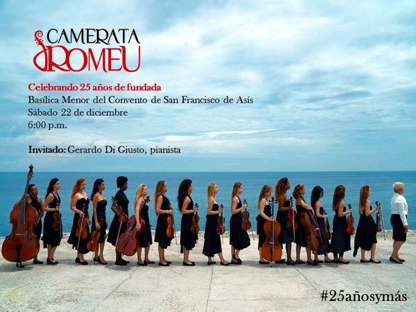 Ofrecerá Camerata Romeu concierto por sus 25 años de creada