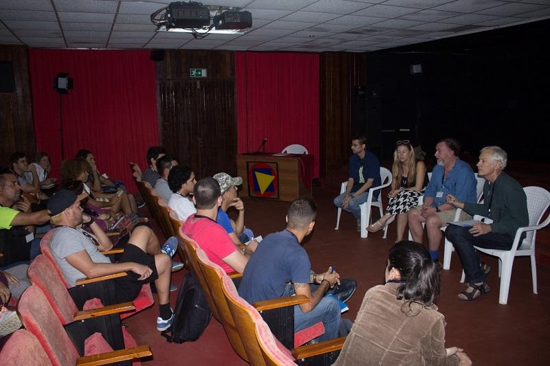 Sesiona primer taller para animadores CubaAnima EICTV 2018