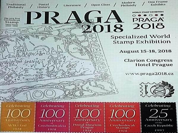 Presente Cuba en Exposición Mundial de Filatelia Praga 2018