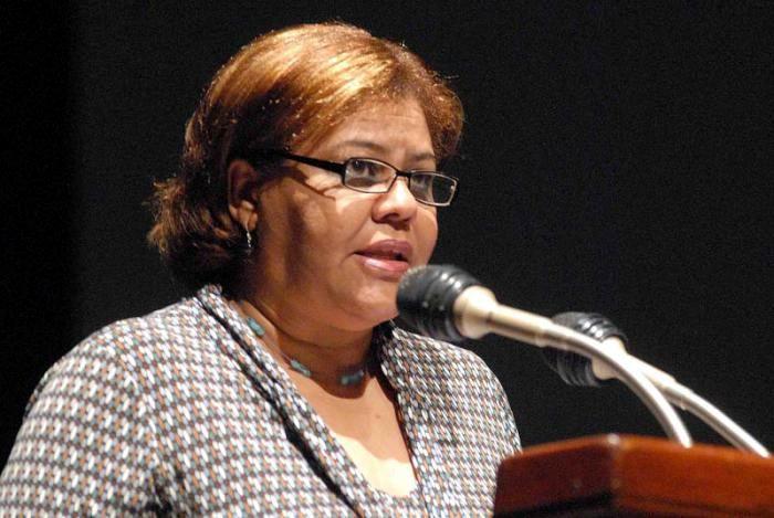 Olga Lidia Tapia Iglesias, miembro del Secretariado del Comité Central del Partido