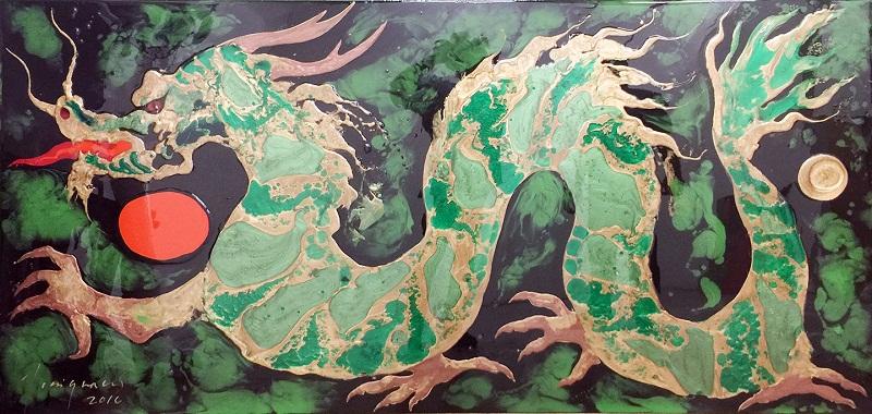 Pinturas de la exposición El Renacer del Ave Fénix, de José Ignacio Sánchez Rius conocido artísticamente como Josignacio