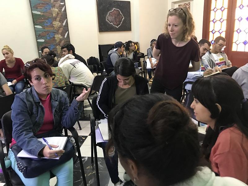Concluyó taller de inglés en la Universidad pedagógica habanera