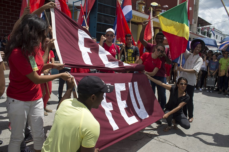 Jóvenes de la FEU, junto al Comité Nacional de la UJC protagonizaron diversos espacios de las Romerías de Mayo