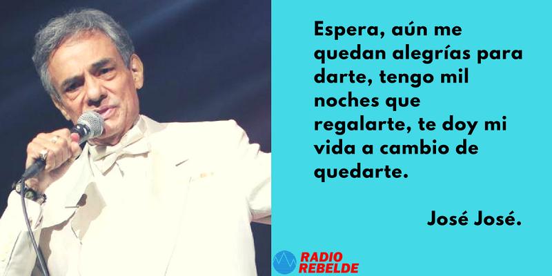 José José Tu Nave Del Olvido Aún No Ha Partido Audio Y