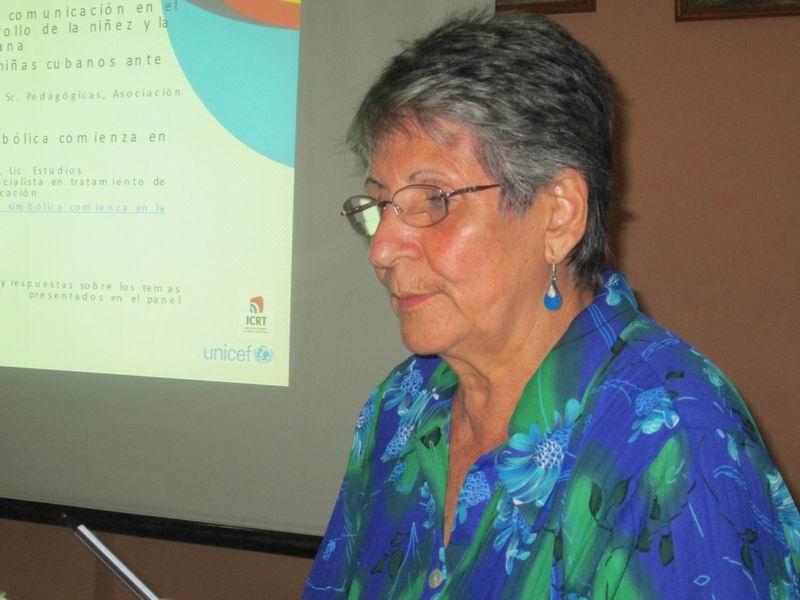 Agenda 2030: retos para los comunicadores en el camino del desarrollo en la niñez y la adolescencia cubana, la conferencia de la doctora en Ciencias Pedagógicas Lesbia Cánovas. Foto: Yirian García de la Torre.