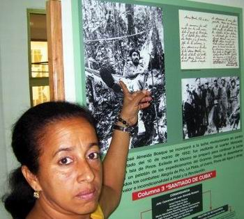 M�ster en Museolog�a, Dorisbel Ramos Cervantes, en el Complejo Hist�rico III Frente. Foto Carlos Sanabia