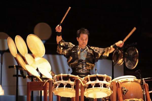 Conciertos del intérprete del tambor wadaiko, Eitetsu Hayashi