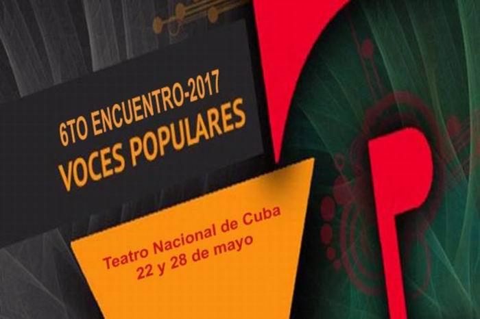 Comienza en Cuba VI Encuentro de Voces Populares