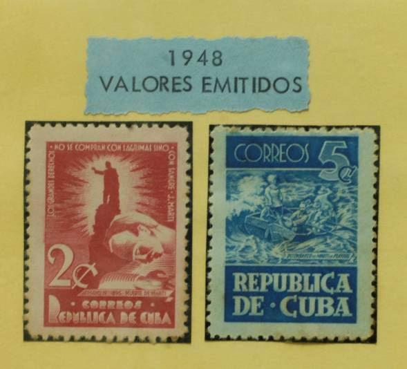 Escultura martiana aparece en los sellos