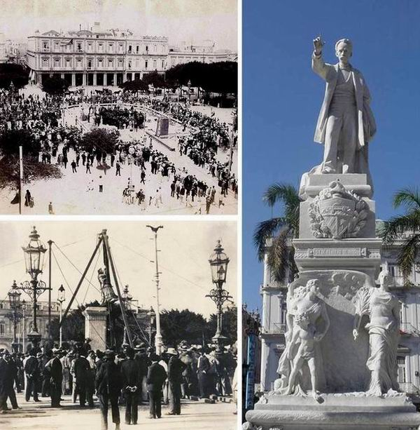 Estatua en mármol del Héroe Nacional de Cuba, José Martí, erigida en el país en 1905