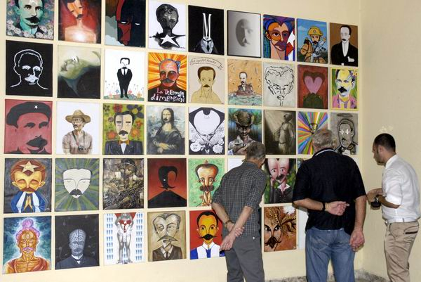 """Expo colectiva """"Arte soy"""" que acoge el Instituto Internacional de Periodismo José Martí. Foto: Yoandry Ávila"""