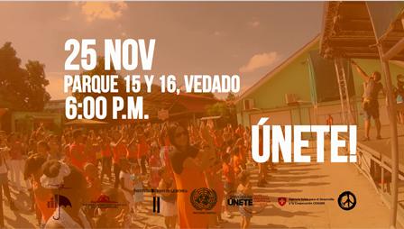 Flash mob en Cuba para promover la No violencia de género