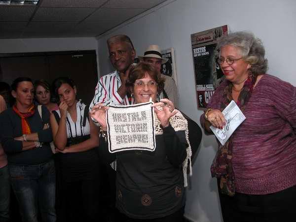 Los trabajadores de Radio Rebelde asistieron a la inauguración de la muestra colectiva