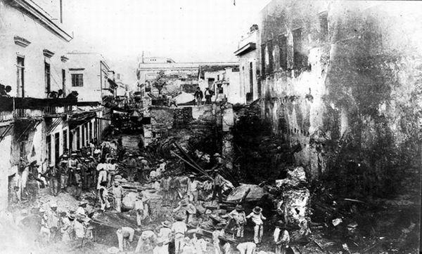 En la noche del 17 de mayo de 1890 se incendió el almacén de la ferretería de Juan Isasi