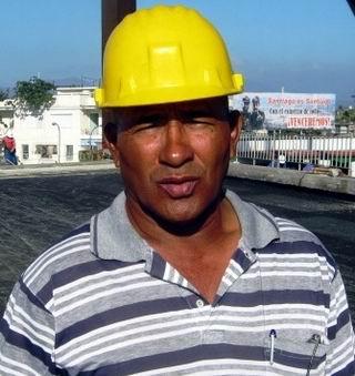 Ingeniero Omar Palacio Kindelan, ejecutor de los trabajos de remodelación. Foto: Carlos Sanabia.