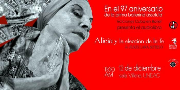 Presentarán en Cuba audiolibro sobre Alicia Alonso