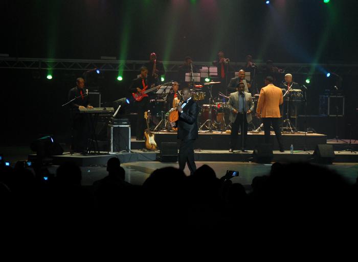 Johnny Ventura regaló un gran concierto al público cubano. Foto: Abel Rojas Barallobre