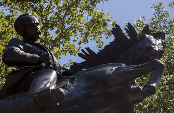 La estatua de José Martí en el Parque Central, de Nueva York. Foto: Cubadebate