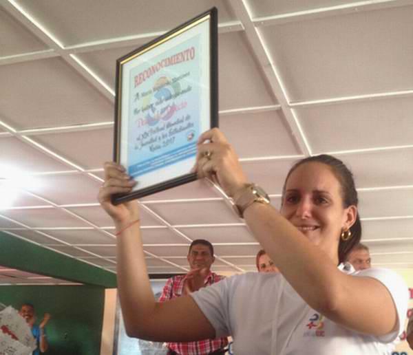 María Izquierdo Martínez, delegada directa de Pinar del Río al 19 Festival Mundial de la Juventud y los Estudiantes. Foto: Alina Cabrera