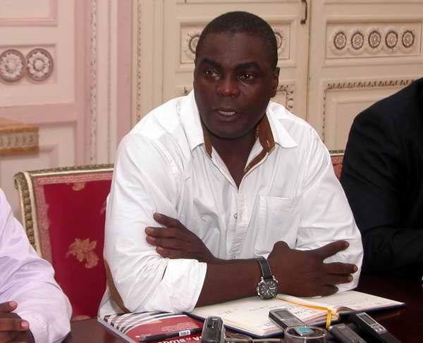 Coordinador del grupo y Secretario de Cultura, Recreación y Deporte de la Asociación de Caimaneros, Laurindo Juan Miguel. Foto Abel Rojas