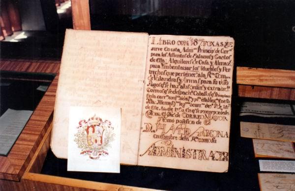 Libro de cuentas de José Antonio de Armona y Murga