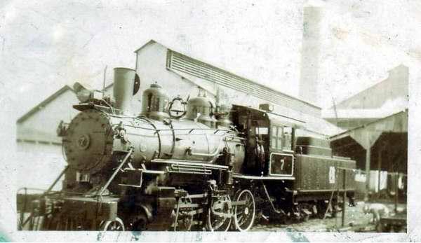 Una locomotora del ferrocarril cubano del siglo XIX