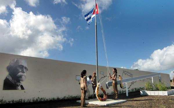 Acto por el aniversario 117 de la conformación definitiva del Ejército Invasor, efectuado en el municipio de Majagua, en Ciego de Ávila, el 2 de diciembre de 2012. Foto: Osvaldo Gutiérrez/AIN.