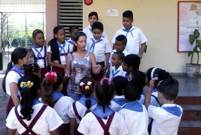 Nirania Soria Galván es maestra del primer ciclo de la escuela primaria Elio Llerena, de Alamar, al este de La Habana. Foto:Teresa Valenzuela