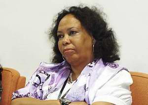 Presidenta de la Sociedad Cubana de Ciencias de la Información, la Dra. María Aurora Soto Balbón. Foto Abel Rojas