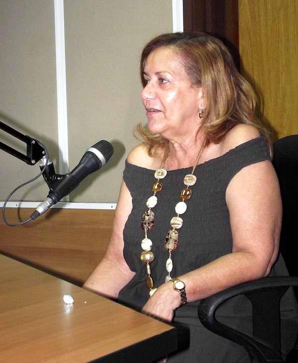María Elena Pena durante su visita al programa Así. Foto Abel Rojas