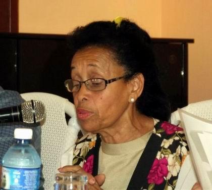 Presidenta de la filial provincial, MsC. Maricela Valido. Foto: Miozotis Fabelo