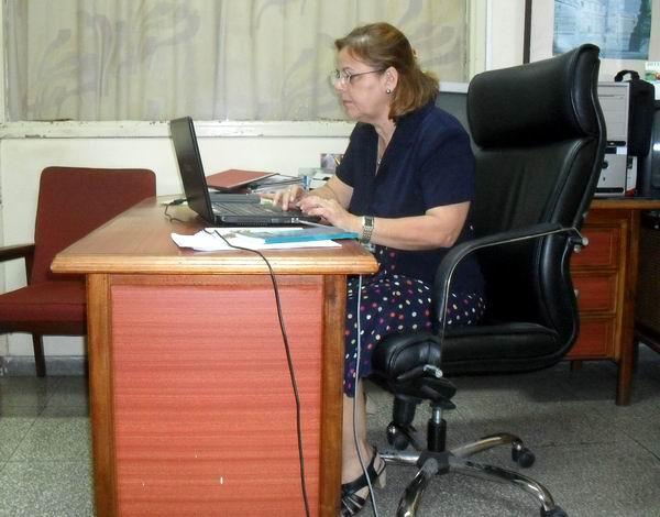 La Doctora Marisol González Pérez, Directora de Ciencia e Innovación Tecnológica del Ministerio de Educación Superior. Foto Teresa Valenzuela