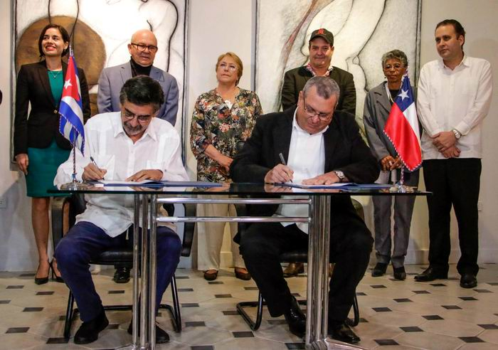 Cuba and Chile sign cooperation agreement in audiovisual field