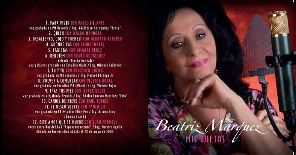 ¿Dónde quedaron los Duetos de Beatriz Márquez?