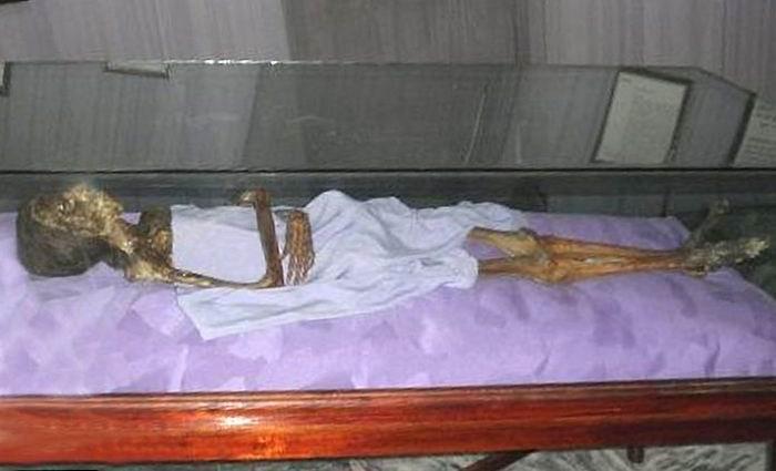 Margarita Ponce de León Heredero, quien ingresara en calidad de cuerpo conservado desde otro camposanto a la inauguración del hoy San Carlos de Borromeo