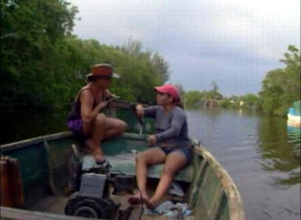 Mujeres pescadoras en Cuba
