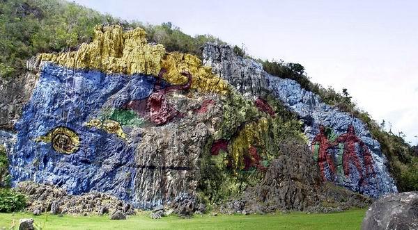 Mural de la Prehistoria en el Valle de Viñales, Pinar del Río