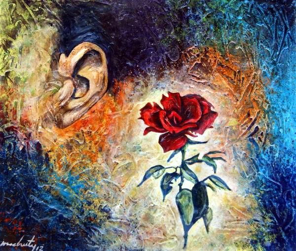 Oreja y Flor, uno de sus amores, el surrealismo, ese decir que encanta y enriquece