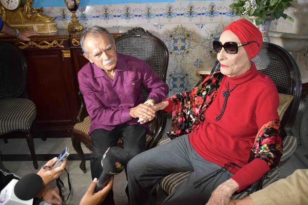 Oscar López Rivera sostiene encuentro con Alicia Alonso. Fotos: karoly Emerson