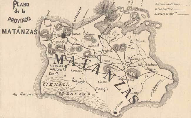 Plano fundación de Matanzas